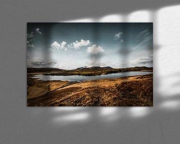Weids landschap met bergen en sneeuw in IJsland van Holly Klein Oonk