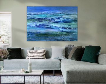 Land Water Blue von Claudia Gründler