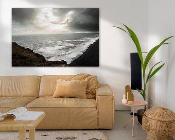 Winterse storm over IJsland van Holly Klein Oonk