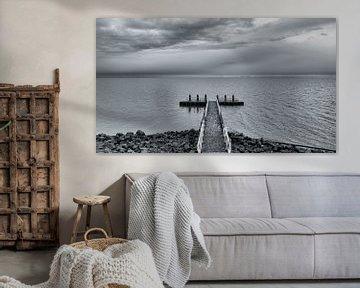 De eindeloze horizon vanaf de Afsluitdijk van Studio de Waay