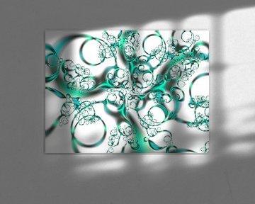 Nieuwe doos met groene krijtjes van Claudia Gründler