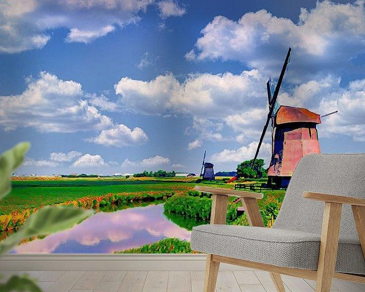 Beispiel fototapete: Mühlen im Schermer von Digital Art Nederland