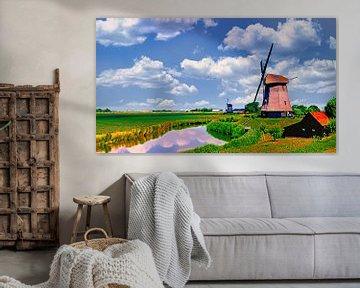 Mühlen im Schermer von Digital Art Nederland