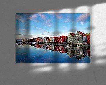Rustige nazomeravond in Trondheim van Reinhard  Pantke