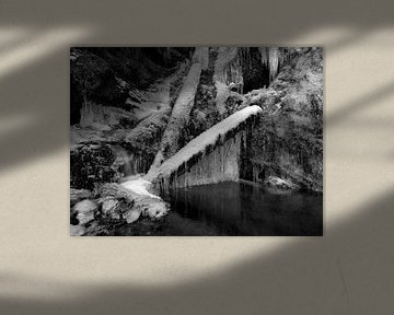 Winter am Oberauer Wasserfall von Andreas Müller