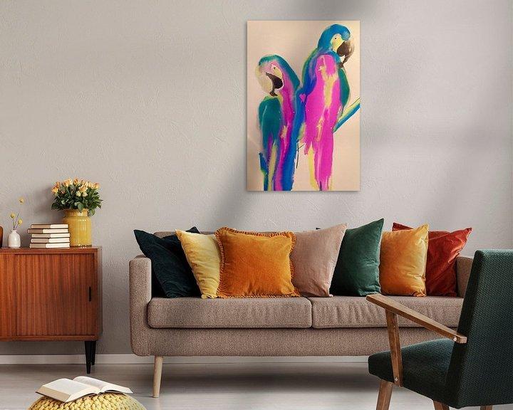 Beispiel: Papagei Liebe von Helia Tayebi Art