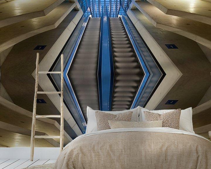 Sfeerimpressie behang: A stairway as Abstract van Brian Morgan