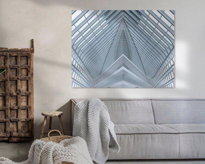 Sfeerimpressie: Lines of a roof as abstract van Brian Morgan
