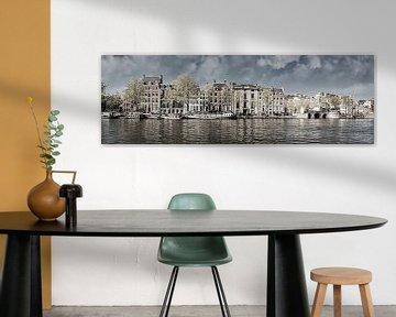 Aan de Amstel zwart-wit, Amsterdam van Rietje Bulthuis