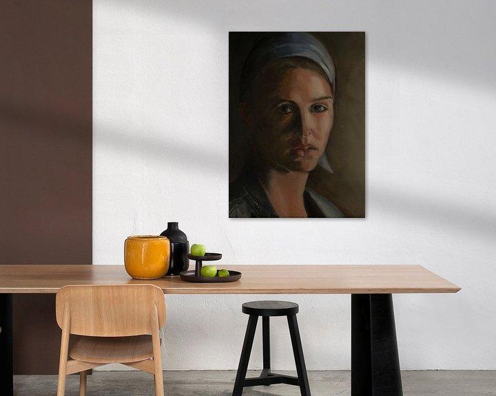Sfeerimpressie: meisje met blauwe haarband van Hanneke Bantje