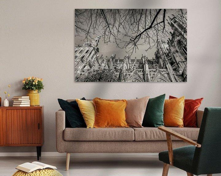 Sfeerimpressie: Sint-Janskathedraal te 's-Hertogenbosch. van Marcel Bakker