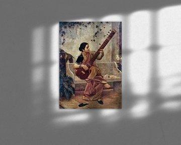 Ravi Verma, Music Hath Charms (Kadambari) - Raja Ravi Varma, ca 1890