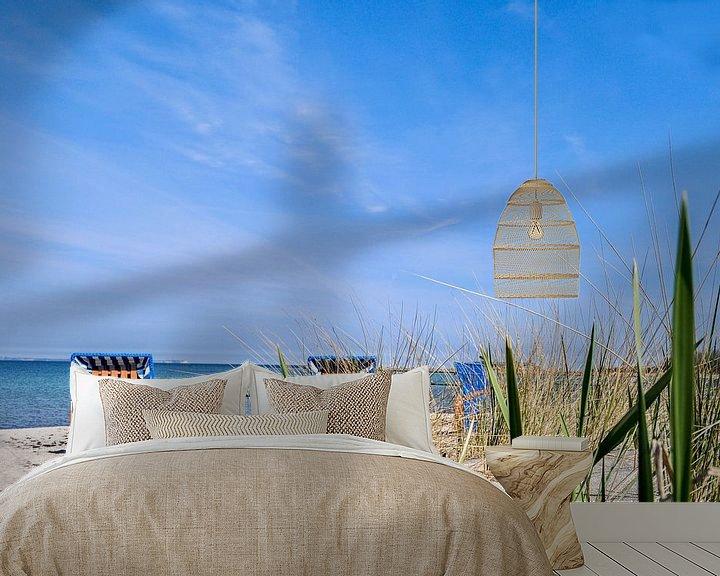 Beispiel fototapete: Strandkörbe in Glowe, Schaabe, Rügen von GH Foto & Artdesign