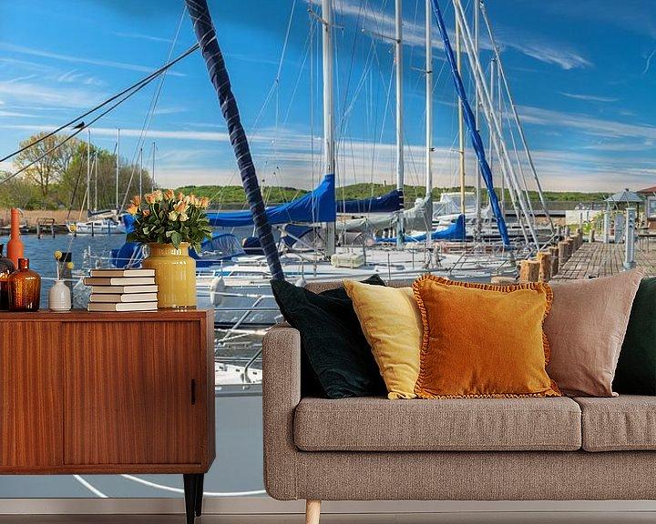 Beispiel fototapete: Segelschiffe im Hafen Seedorf bei Sellin, Rügen von GH Foto & Artdesign