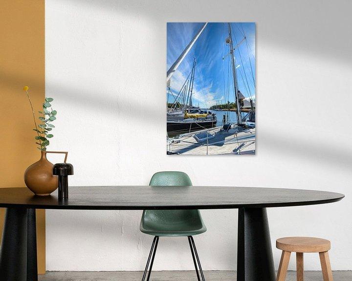Beispiel: Segelschiffe im Hafen Seedorf bei Sellin, Rügen von GH Foto & Artdesign