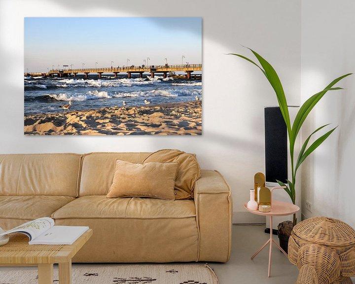 Sfeerimpressie: Meeuwen op het noordelijk strand in Göhren op het eiland Rügen van GH Foto & Artdesign