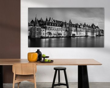 Der Hofvijver in Den Haag in Schwarz-Weiß