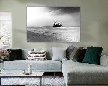 Gestrande vissersboot von Thijs Schouten