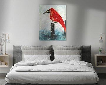 Der Rote Vogel - Wintereinbruch von Christine Nöhmeier