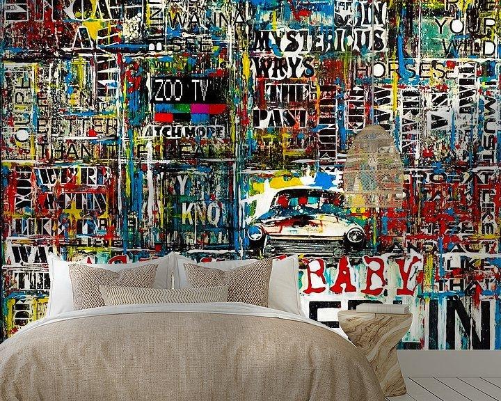 Sfeerimpressie behang: Achtung Baby Berlin van Frank van Meurs