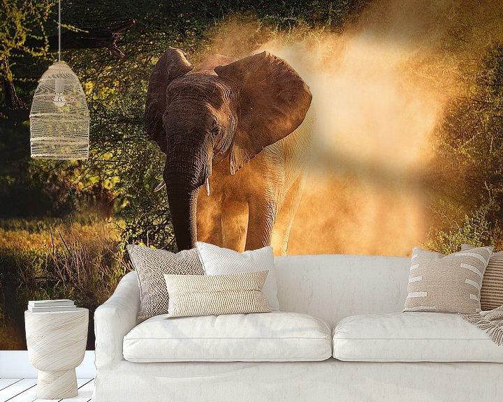 Sfeerimpressie behang: Olifant van Nicole Jagerman