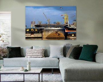 Navires et transbordements dans le port de Rotterdam sur Peter de Kievith Fotografie