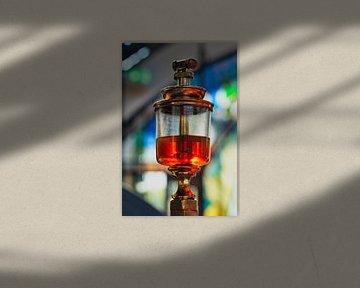 Verlichte olie van HGU Foto