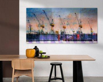 Hafenkräne_3 von Manfred Rautenberg Photoart