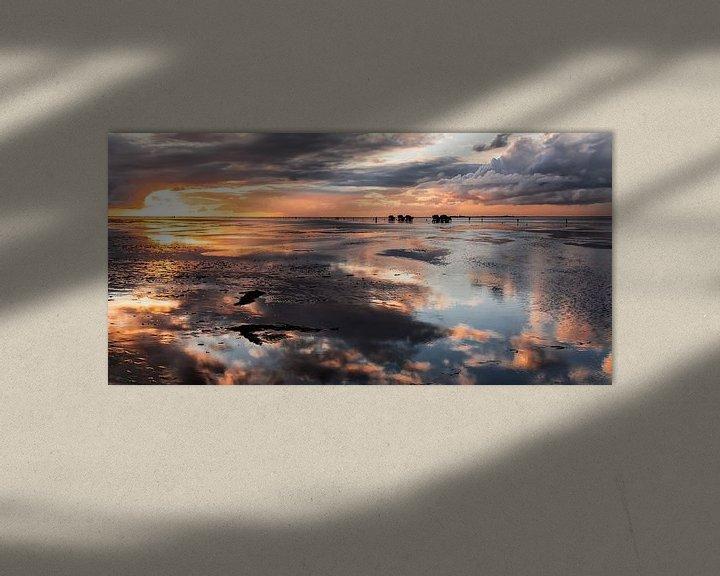 Sfeerimpressie: Avondsfeer in het wad 4a van Manfred Rautenberg Photoart