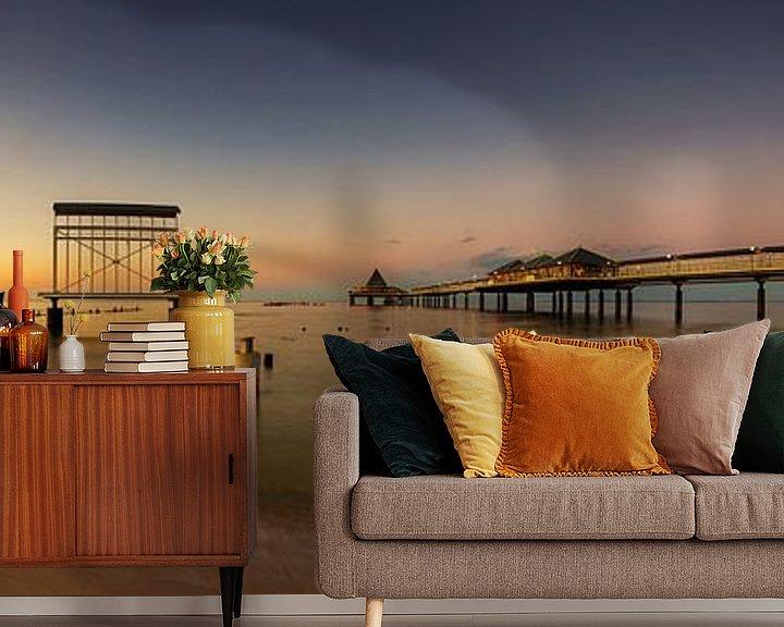 Sfeerimpressie behang: Gebruiksgemak Panorama bij zonsondergang van Frank Herrmann