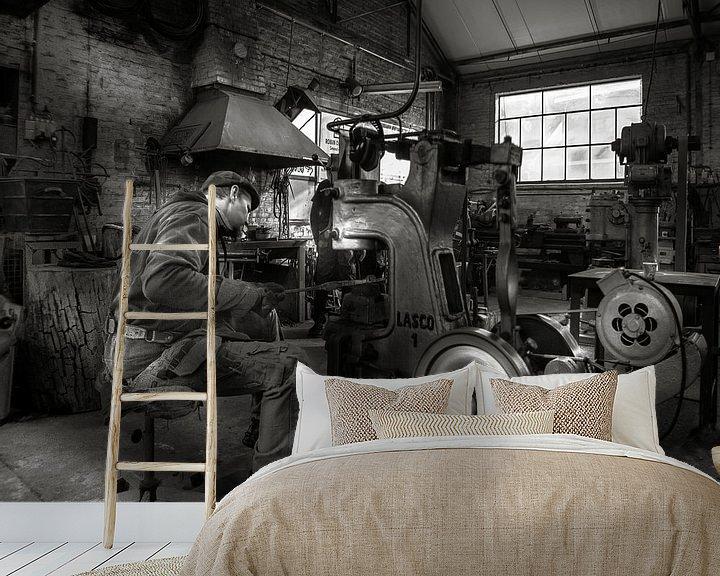 Sfeerimpressie behang: Making Magic from Metal van Olivier Photography