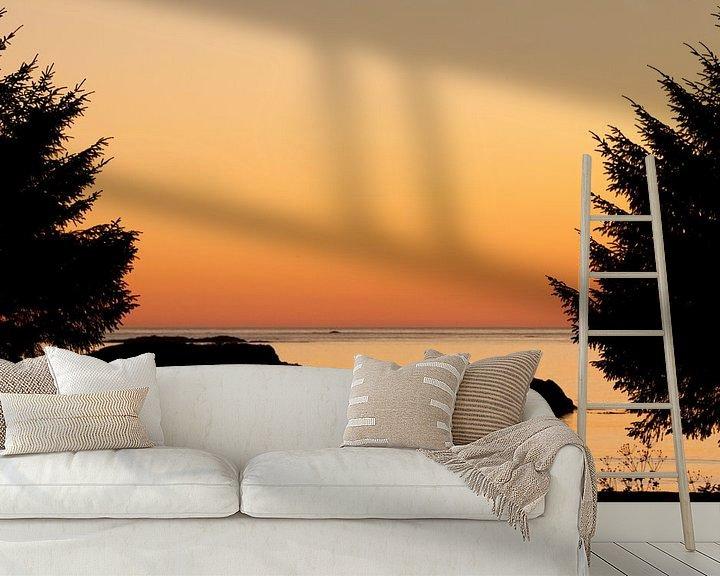 Sfeerimpressie behang: Silhouette zonsondergang van Stefan Verheij