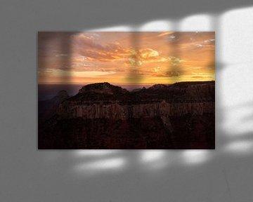 Zonsondergang Grand Canyon van Stefan Verheij