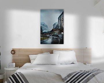 Lauterbrunnen in Zwitserland van Prints by Abigail Van Kooten