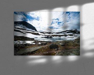 Bergmeer in Noorwegen van Floris Kok