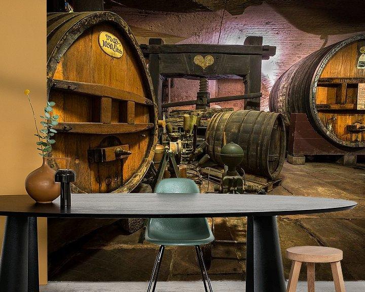Sfeerimpressie behang: Wijnkelder van Huub Keulers
