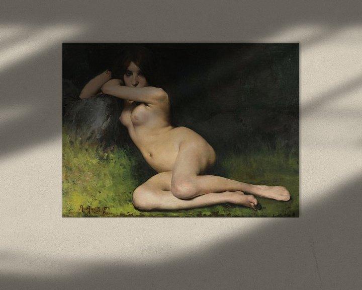Beispiel: Studie für Aktmodell Marabá, Rodolfo Amoedo, 1882 von Atelier Liesjes