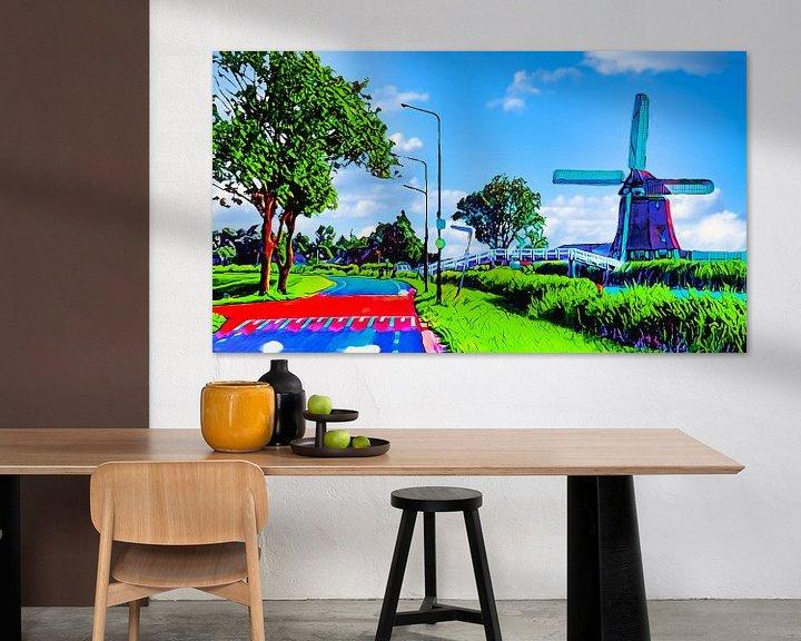 Beispiel: Hühnerbrücke Heerhugowaard von Digital Art Nederland