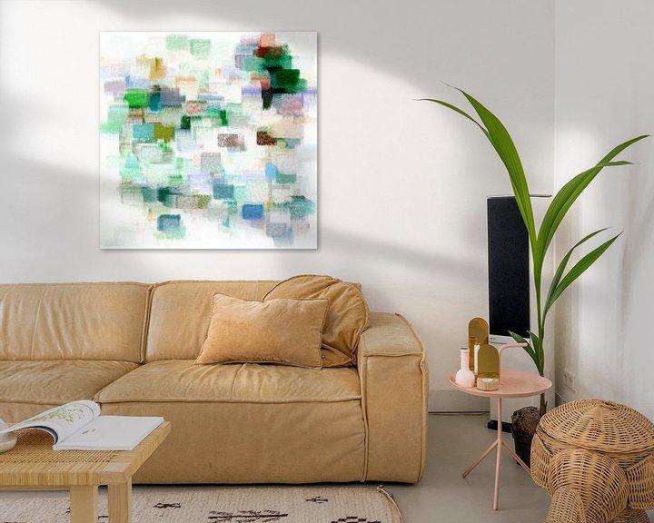 Beispiel: Abstrakt in grünen, blauen und roten Farbtönen von Maurice Dawson