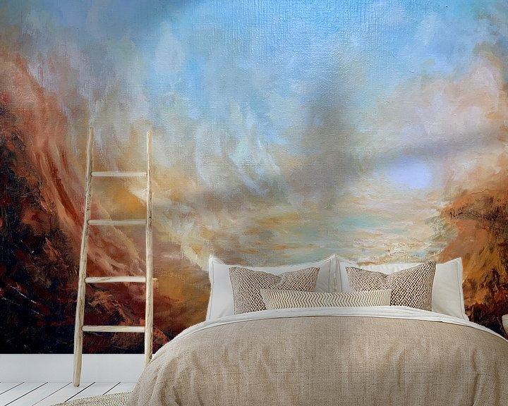 Beispiel fototapete: Sonnenuntergang Tal von Christian Carrette
