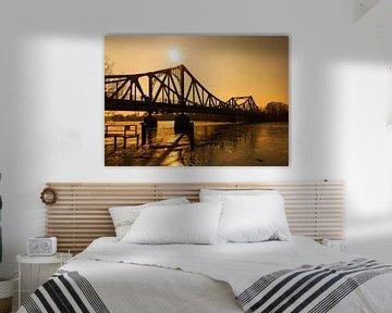Le pont Glienicke au coucher du soleil