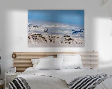 Solheimajokull gletsjer in de winter van Henry Oude Egberink