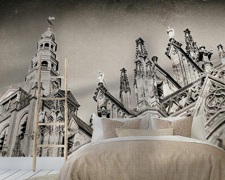 Sfeerimpressie behang: Sint-Janskathedraal te 's-Hertogenbosch van Marcel Bakker