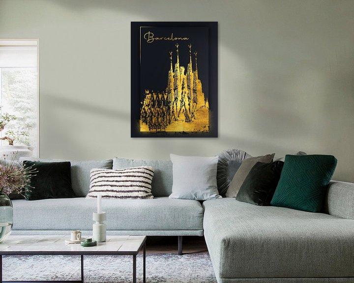 Beispiel: Barcelona von Printed Artings