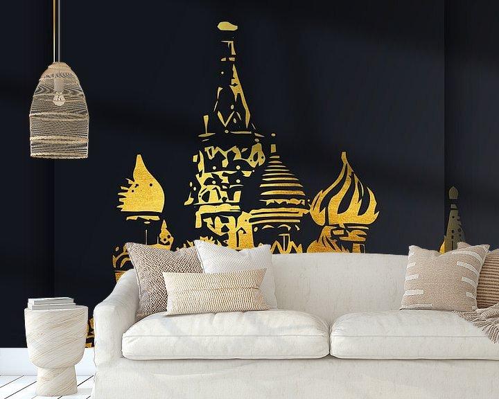 Beispiel fototapete: Moskau von Printed Artings