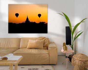 Myanmar - Bagan - Silhouet van een spirituele hoofdstad