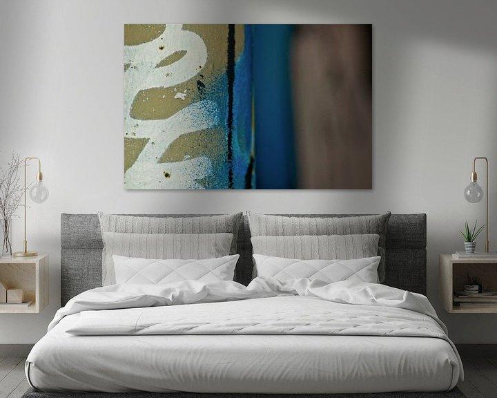 Beispiel: Graffiti Blau-Weiß von Agnes Meijer