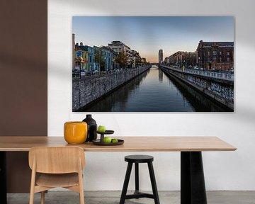 Le canal à Molenbeek sur Werner Lerooy