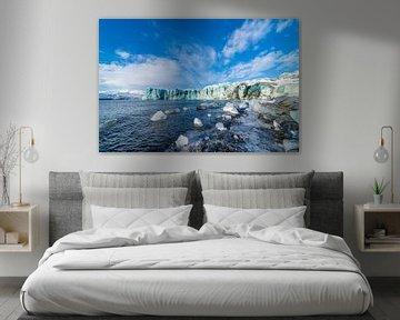 Het eind van de  Breiðamerkurjökull gletsjer van Henry Oude Egberink