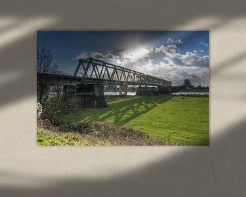 Spoorbrug over de Maas bij Mook en Cuijk